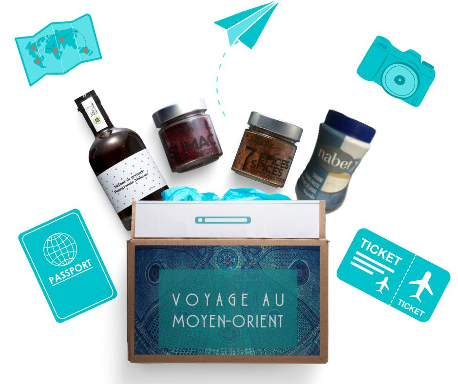 Cliquez ici pour acheter Valise gourmande – Voyage au Moyen-Orient