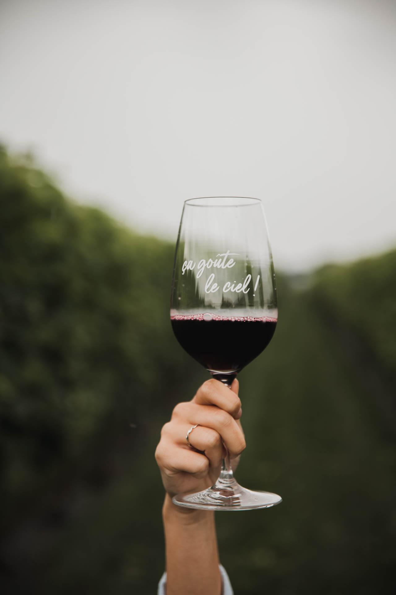 Cliquez ici pour acheter Verre à vin – Ça goûte le ciel