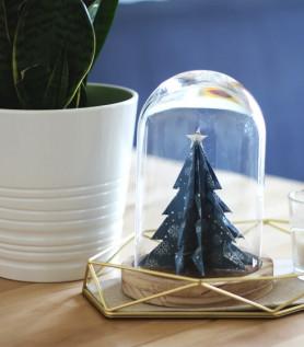 Cloche – Sapin en origami