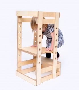 Tour d'apprentissage en bois