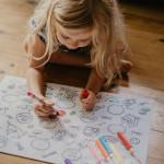 Napperon éducatif à colorier - Chats et chiens