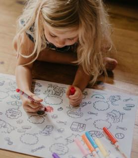 Napperon éducatif à colorier – Chats et chiens
